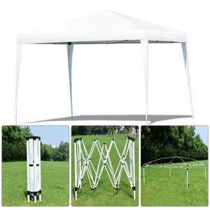 9 ft. 10 in. x 9 ft. 10 in. White Canopy Tent Wedding Party Shelter with Carry Bag! New/Nuevo! $60! for Sale in Riverside, CA