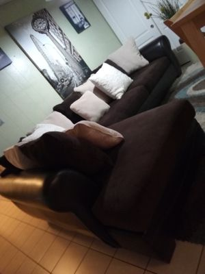 RETRO MODERN LEATHER &POLYESTER L-SHAPED SECTIONAL!!!! for Sale in San Jose, CA