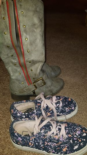 Girls boots and vans for Sale in Indianola, IA