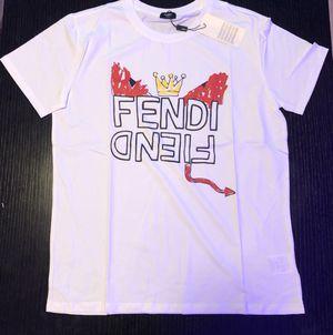 White Fendi t shirt for Sale in Miami, FL