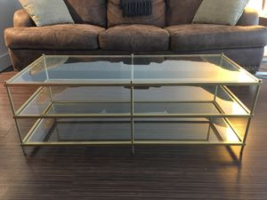 COFFEE TABLE, glass, two months old for Sale in Austin, TX
