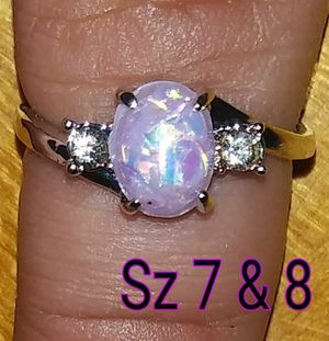 Beautiful sterling silver ring. Pink fire opal stone for Sale in Glen Burnie, MD
