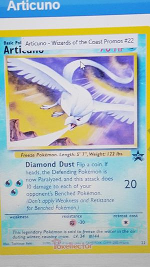 👣 Pokemon cards 💥SEALED 💥WotC Black Star Promo 💥ARTICUNO #22💥👣 for Sale in Falls Church, VA