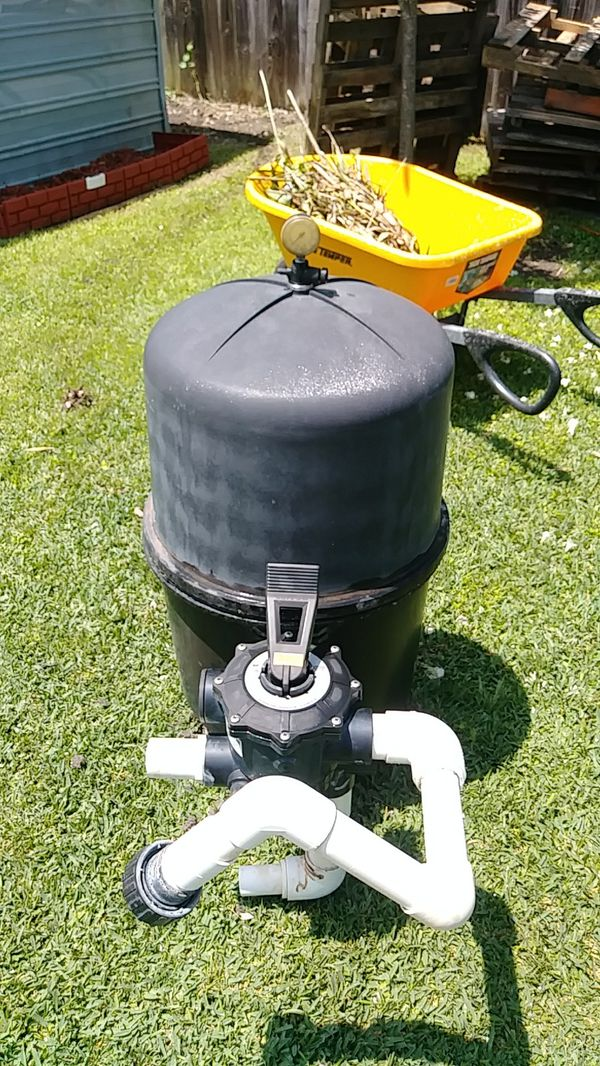 Hayward in ground DE pool filter and valve