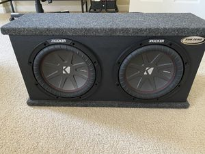 Kicker CompR Subs/ Hifonics 1200 Watts @ 1 Ohm Amplifier for Sale in Beaverton, OR