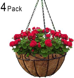 4 Pack Metal Hanging Planter Basket for Sale in Ontario, CA