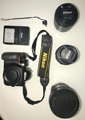 Nikon D3300 with 3 Lenses for Sale in New York, NY