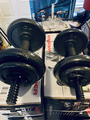 Adjustable dumbbell set metal 40 lbs total for Sale in Davie, FL