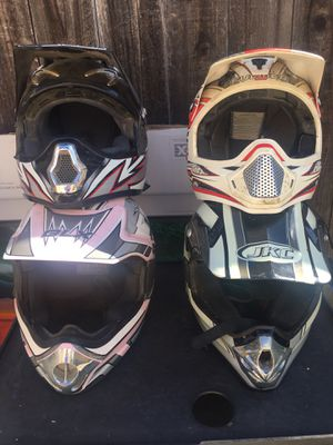 Dirt bike riding helmets for Sale in Torrance, CA