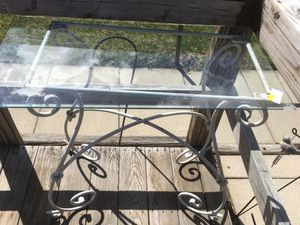 Wrought iron table console with glass top for Sale in Claridge, PA