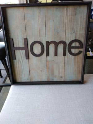 """Brand New Wood and Metal Home Sign (Dimensions: 20""""x20"""") for Sale in North Las Vegas, NV"""