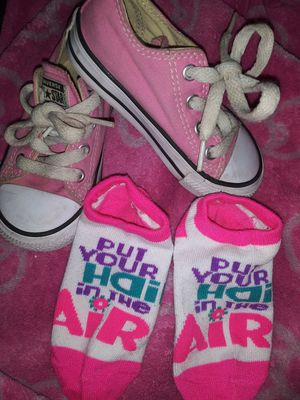 Baby girls converse and socks for Sale in North Las Vegas, NV