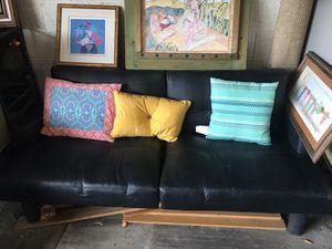 Faux Leather Futon for Sale in Glendale, AZ