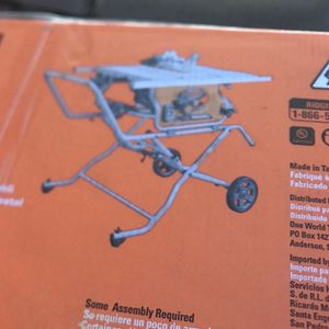 Table saw Ridgid 10in Heavy Duty for Sale in Redwood City, CA