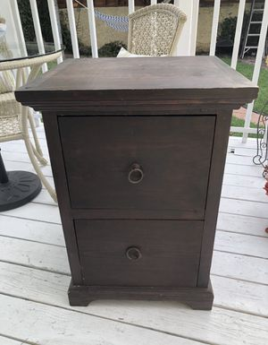 Wood file cabinet for Sale in Long Beach, CA