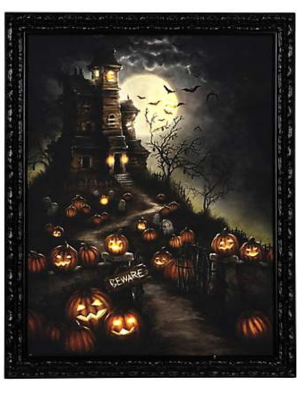 Halloween Picture Frame Lights Up Led Lights Frame Measures 22x28