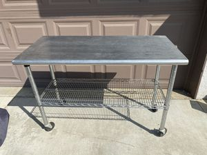 Stainless Steel Work Station with Wire Shelf for Sale in Anaheim, CA