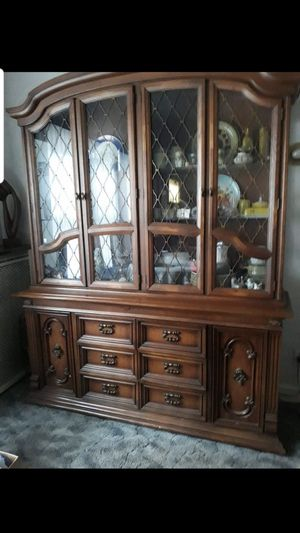 Antique Old School China Cabinet for Sale in Chicago, IL