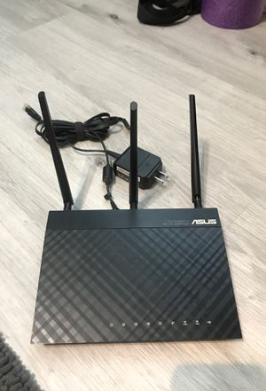 Asus Dual Band WiFi Router with power cable and Ethernet cable for Sale in Sacramento, CA