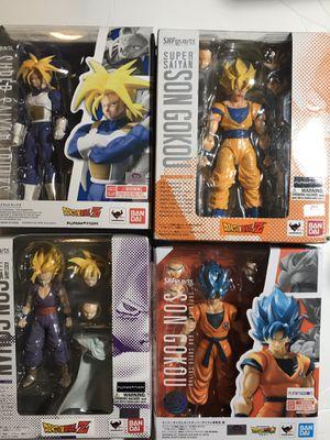 Sh Figuarts Bundle Goku Blue Gohan SS Trunks Goku Ss figures Dragon ball z Read Description for Sale in Santa Monica, CA