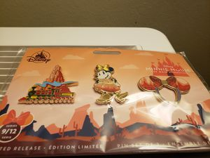 Disney Pin Trading Minnie Mouse Main Attraction Big Thunder Mountain September Pin Set for Sale in Anaheim, CA