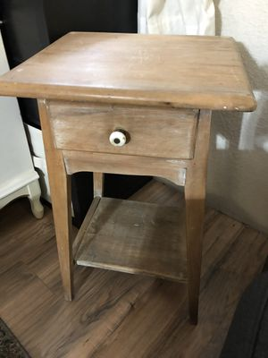 Side table with shelf for Sale in El Mirage, AZ