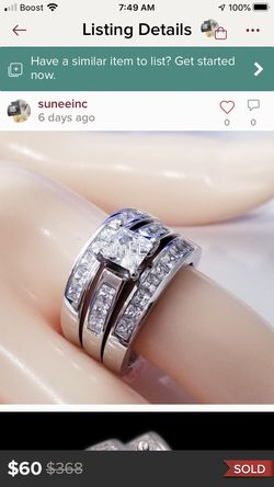 3 Band Princess Cut Wedding Rings for Sale in Bethalto,  IL
