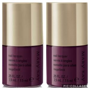 Mary Kay lot of 2 plush plum nail polish lacquer for Sale for sale  Queens, NY