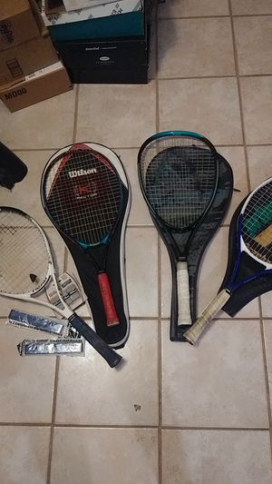4 Tennis Rackets and New Grip Tape for Sale in Largo, FL