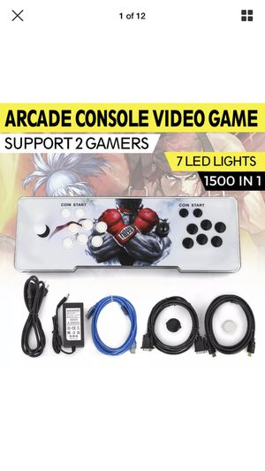 Arcade Console Video Game w/1500 Games for Sale in El Paso, TX