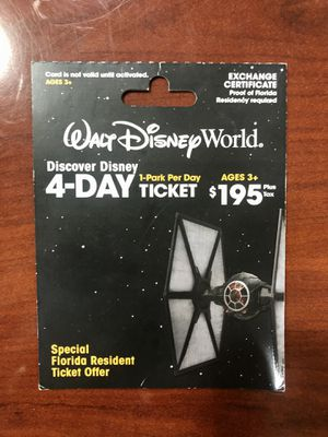 Disney 4-Day Pass for Sale in Tampa, FL