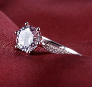 925 Sterling Silver Crystal Diamond Engagement Rings for Women Size 8 for Sale in Moreno Valley, CA