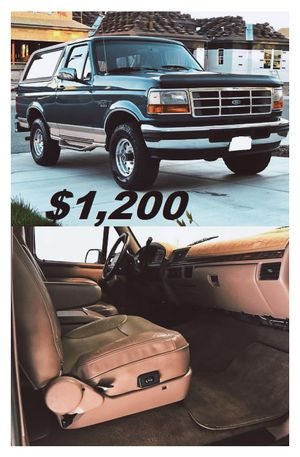 🎁1996 FORD BRONCO🎁($12OO)🎁Eddie Bauer 4x4🎁One Owner🎁 for Sale in Washington, DC