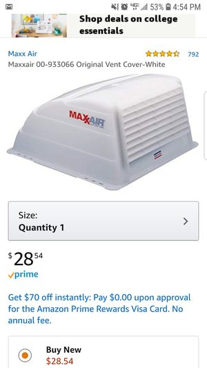 Like new Maxx Air Vent cover - White for Sale in Puyallup, WA