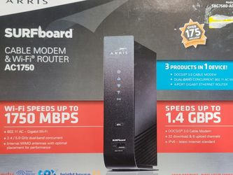Arris Surfboard Modem And Router Ac1750 SBG7580-AC for Sale in Evesham Township,  NJ