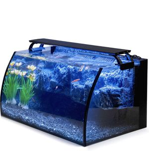 Hygger 8 Gallon Curved Glass Aquarium Starter Kit Tanks for Sale in Los Angeles, CA