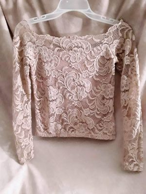 **Shop my closet** light pink lace off the shoulder shirt for Sale in Phoenix, AZ