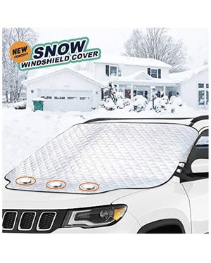 Brand new! Car Windshield Snow Cover,Windshield Snow Cover with 4 Layers Protector,XXL size fits any cars trucks&SUV, 3Magnets & security flap -Doubl for Sale in Miami, FL