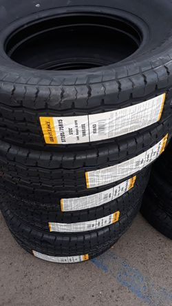 st205 75 r15 trailer tires 4new $200 for Sale in Los Angeles,  CA