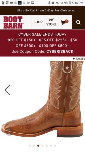 Tony Lama smooth ostrich skin boots for Sale in Monroe, LA
