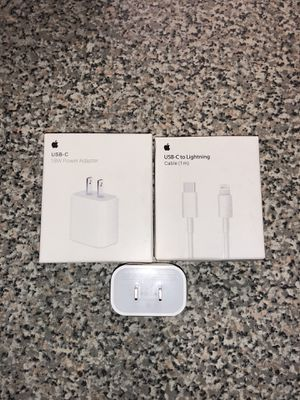iPhone se 2nd generation 18W fast wall charger combo for Sale in Bristol, CT