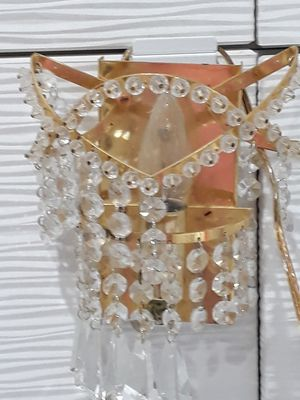 Italian 24 K gold plated and crystals wall lamps. Each has a different style. 9x5 inches. Price for both. for Sale in Miami, FL