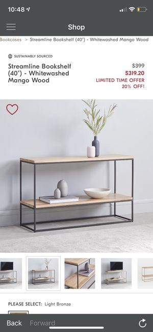 West elm Console/book shelf for Sale in Oceanside, CA