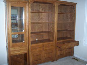 3 piece Oak book case for Sale in Suamico, WI