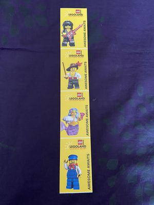4 LegoLand tickets, no block out dates, must use by 3/1/2020. for Sale in Pomona, CA