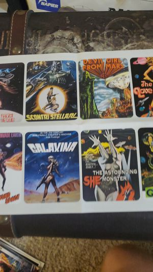 Vintage sci-fi movie stickers for Sale in Issaquah, WA