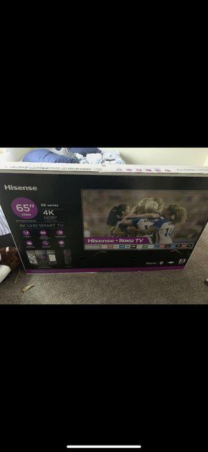 "65"" Hisense 4K HD smart tv for Sale in Lansing, MI"