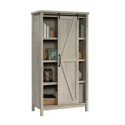 """❤Better Homes & Gardens 66"""" Modern Farmhouse Bookcase Storage Cabinet, Rustic White Finish for Sale in Houston,  TX"""
