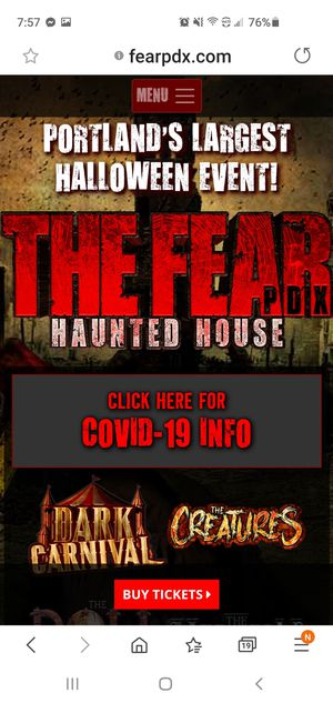 3 Fear PDX tickets for Sale in Renton, WA