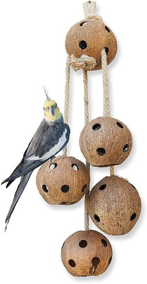 Hand-Made Heavy Duty Bird Toys for Large Birds Parrot Cage Bite Toys African Grey Macaws Cockatoos for Sale in Hacienda Heights, CA